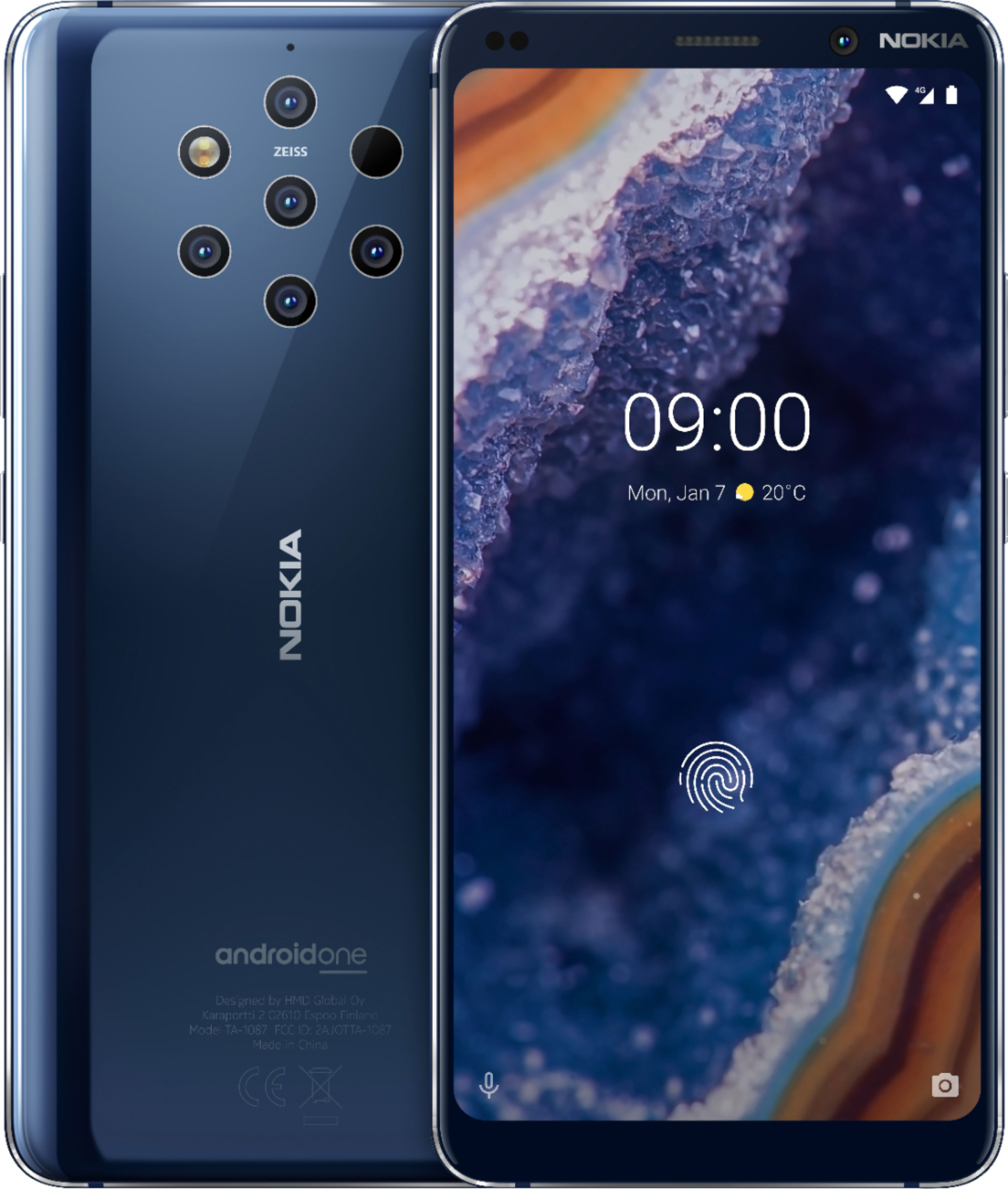 Nokia 9 PureView Dual Sim 128GB 4G LTE Midnight Blue