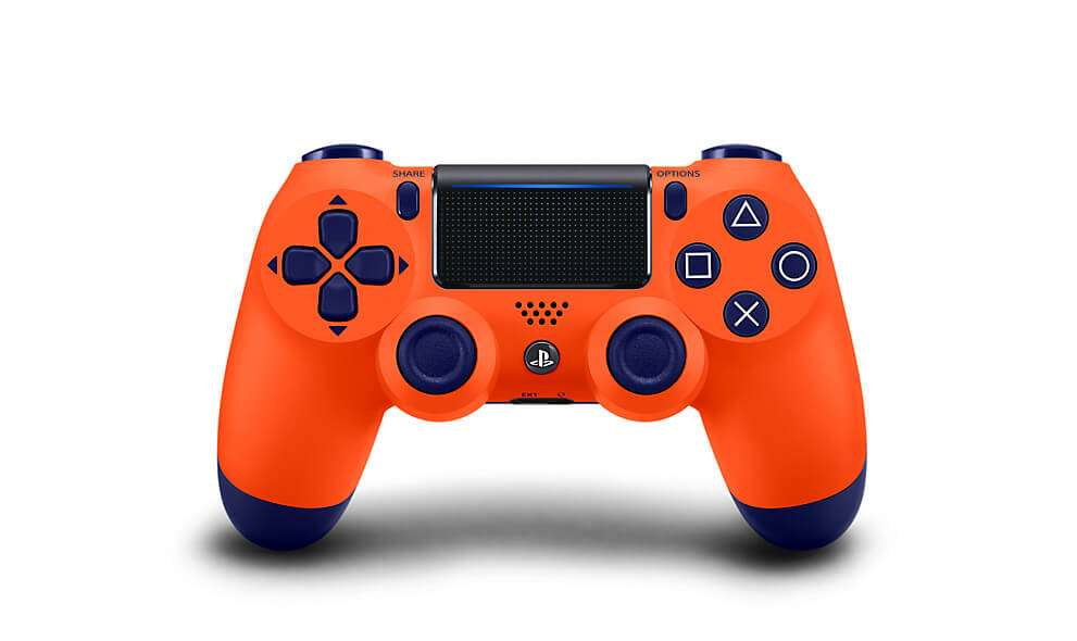 Sony DualShock 4 Wireless Controller For PlayStation 4 - Sunset Orange